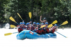Whitewater rafting half day in Golden BC