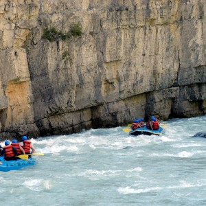 Lower canyon: Wild whitewater rafting in Golden BC
