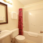 Each room in our bed & breakfast has its own private bathroom