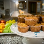 Muffins for breakfast at Whitewater Lodge B&B