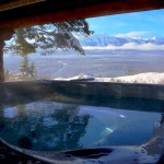 Hot tub with beautiful views in Golden, British Columbia