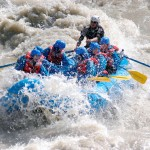 white water rafting on the kicking horse river in golden bc