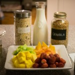 Healthy breakfast at Whitewater Lodge Bed and Breakfast